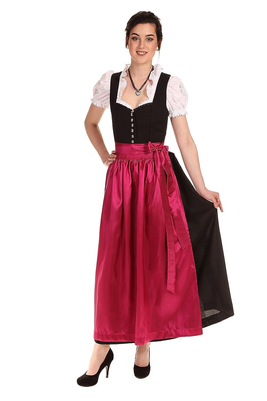 Königssee Tracht Damen Dirndl schwarz D611011 Kamilla ohne Schürze