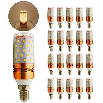 Bombilla LED (E14, rosca pequeña Edison), diseño de vela, aluminio,