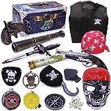 Halloween Piraten Spielzeug Kostüm Zubehör Set Crazy Toy Screaming Mask Gesichts Skelett Piraten Figur der Aktion Kinder Spielzeug