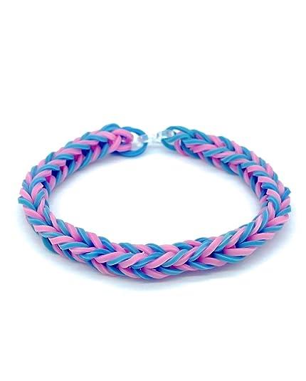 Azul, rosa, Unisex colecciones telar de pulsera niños - Idea ...