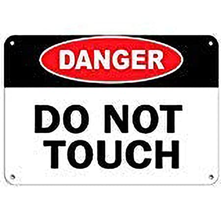 JUNGK Danger Do Not Touch Hazard Sign Danger -Cartel Chapa ...