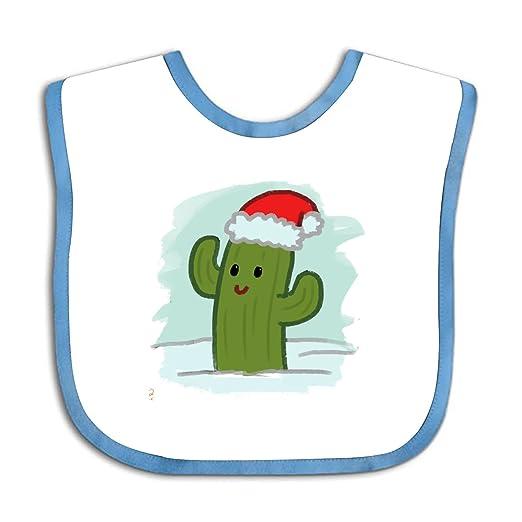 3a1870f3a Amazon.com: Cute Infant Baby Boy's Girl's Christmas Cactus Bib: Clothing