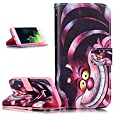 Galaxy S7 Edge Case,Galaxy S7 Edge Case Wallet,ikasus Beautiful Art Painted Pattern Flip PU Leather Fold Wallet Pouch Case Premium Leather Wallet Flip Case with Stand Credit Card ID Holders Case Cover for Samsung Galaxy S7 Edge (2016),Pink Cat