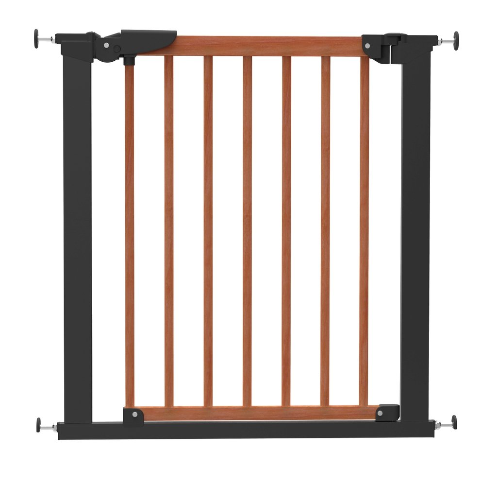 Baby Dan Avantgarde Barri/ère /à Fixation par Pression pour Porte//Escalier Cerisier//Noir 71,3-77,6 cm.