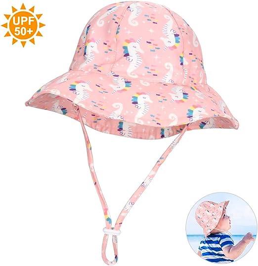 en Coton R/églables Large Bord Anti UV Plage Voyage Chapeau de Soleil Femme /Ét/é
