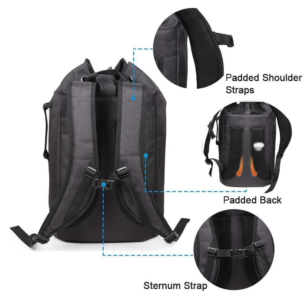 AQIWO Drawstring Backpack Waterproof Gym Bag Basketball Gear Bag Men Women