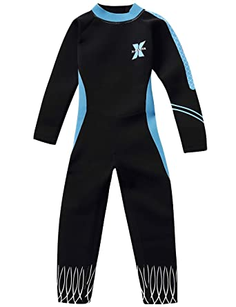 860fd2ba7b Gogokids Girls Wetsuit - Kids Rash Guard One Piece Thermal Swimsuits 2.5mm  Neoprene Diving Snorkelling Suit UV 50+ Sun Protection: Amazon.co.uk:  Clothing