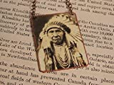 Chief Joseph necklace mixed media jewelry Native American jewelry
