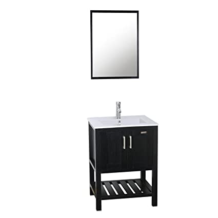 27 Inch Bathroom Vanity Combo.Amazon Com Eclife 24 Bathroom Vanity Sink Combo W Overflow