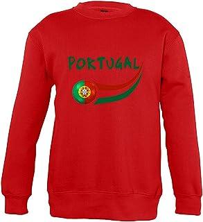 Supportershop 6Sweatshirt Portogallo 6Unisex Bambino, Rosso, Fr: M (Taglia Produttore: 6Anni)