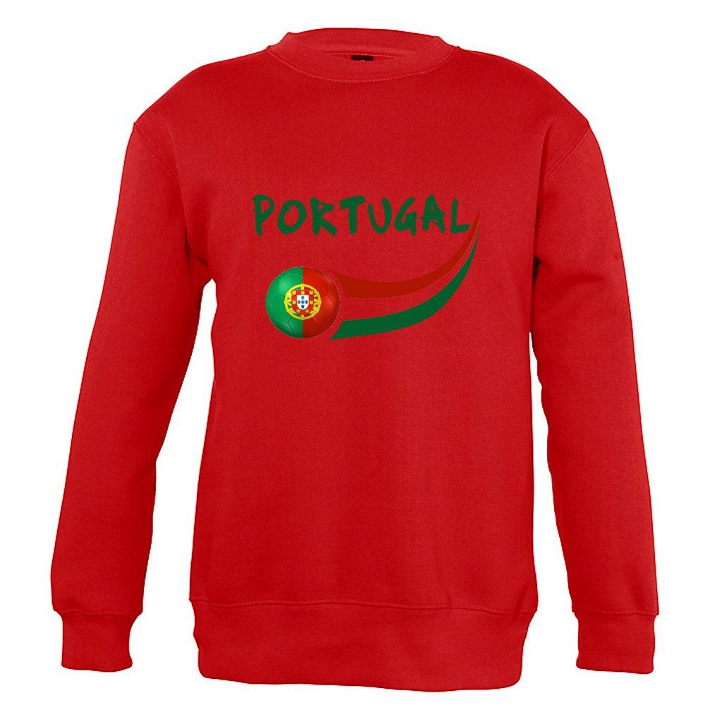 Supportershop Sweatshirt Portugal Rouge Enfant 8 Ans Mixte L Taille Fabricant FR