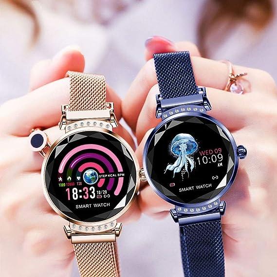 JBAG-one Reloj Inteligente para Mujer Monitor de Ritmo ...