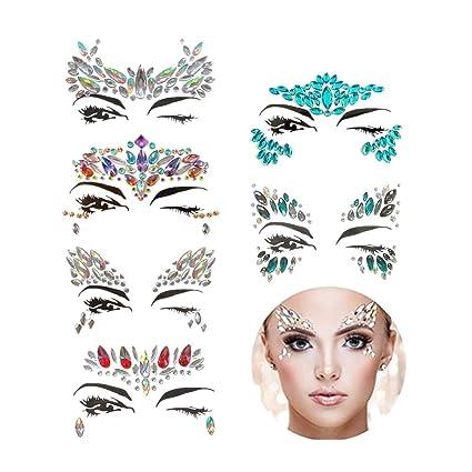 REFURBISHHOUSE 6 Sets Cara Gemas Diamante de ImitacióN Sirena Cara ...