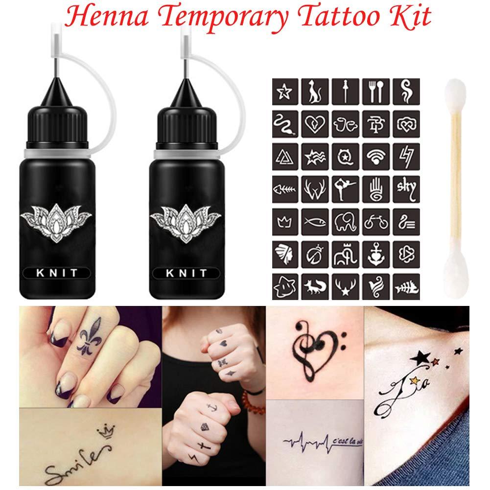 Amazon.com: Jagua Henna Tattoo Kit Black Tatoo Ink 1oz, Semi ...