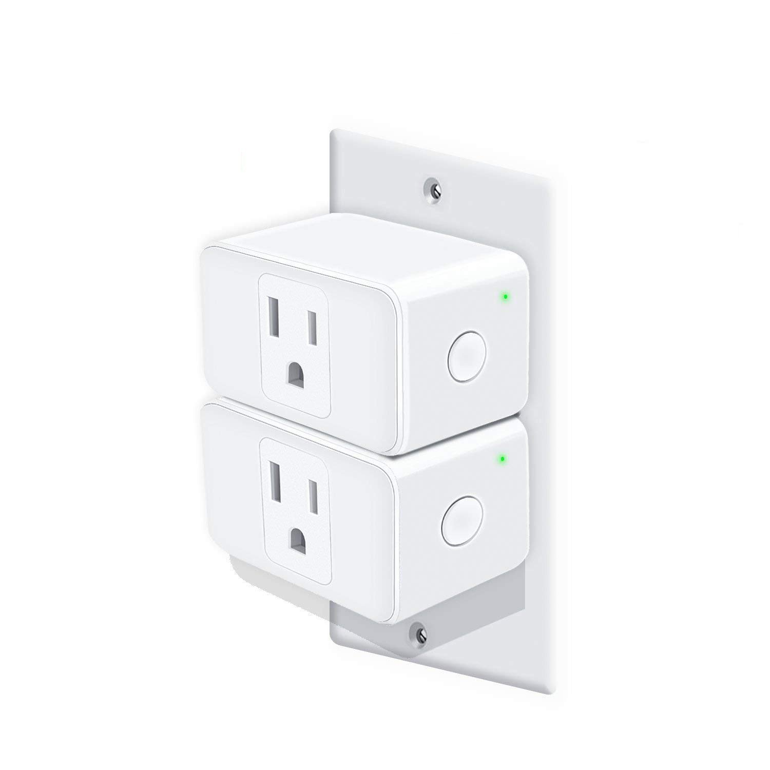 TicLife Smart Plug, 2 Pack, Works with Alexa and Google Assistant, Wi-Fi Remote Control, No Hub Required, ETL Satefy Certification Listed, US Only, Outlet not Included.