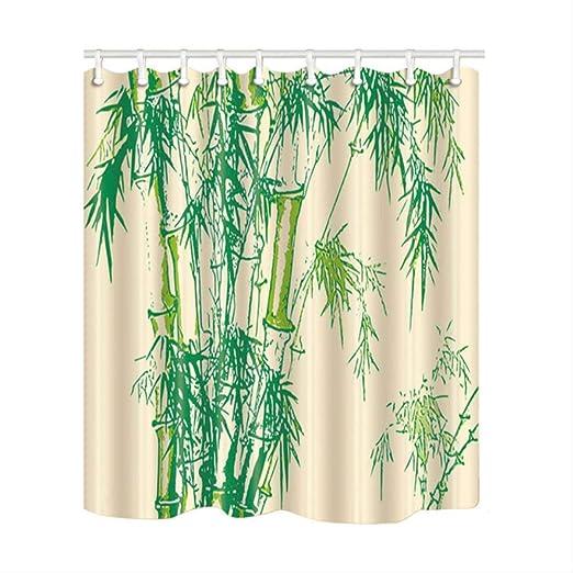 HBZZCL Bambú Impresión China Decoración del hogar Cortinas de baño ...