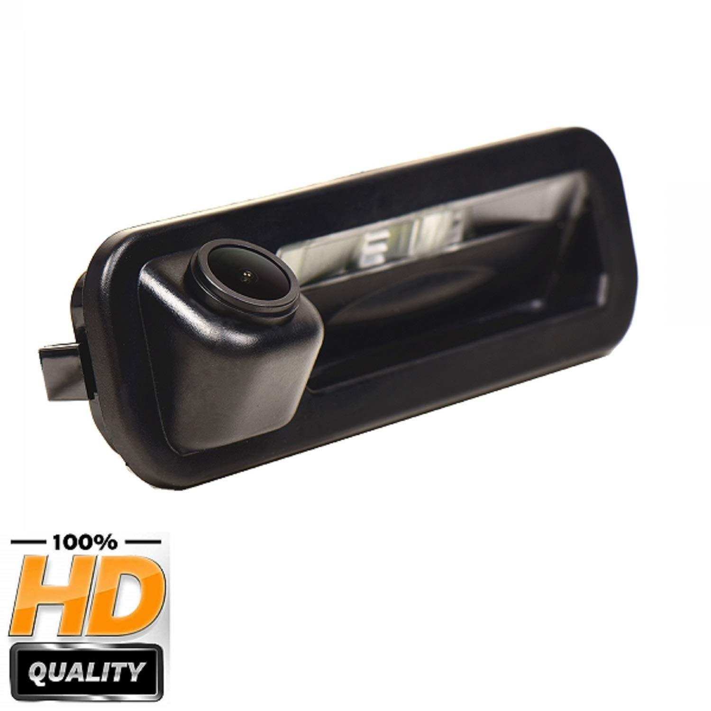 170 /° HD CCD Cam/éra 1280x720p Imperm/éable IP69K Cam/éra de Recul Vision Nocturne Tronc Poign/ée pour Ford Focus Se//Focus St//Focus 2//Focus 3//Turnier Mk3//Escort 2012-2014