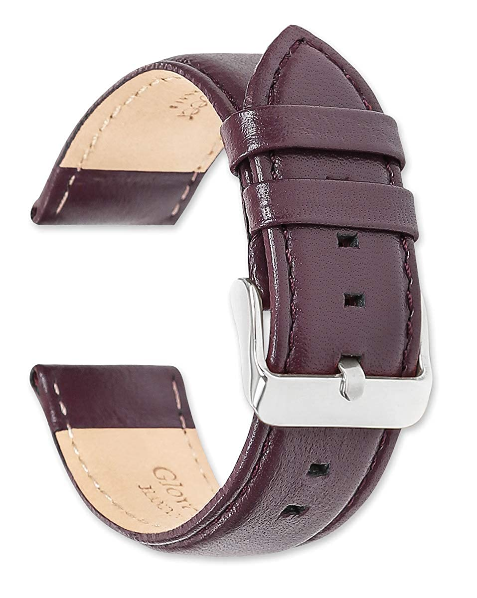 deBeer Panerai Style Glove Leather Watch Strap - Choice of Colors & Widths - 14, 16, 18, 19, 20, 22, or 24mm