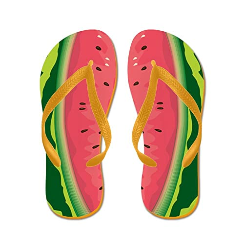 573d3d2cacbf Image Unavailable. Image not available for. Color  CafePress - Watermelon - Flip  Flops ...