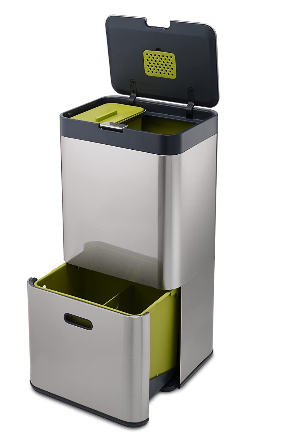 Perfect Amazon.com: Joseph Joseph 30022 Intelligent Waste Totem Kitchen Trash Can  And Recycle Bin Unit With Compost Bin, 16 Gallon/60 Liter, Stainless Steel:  ...