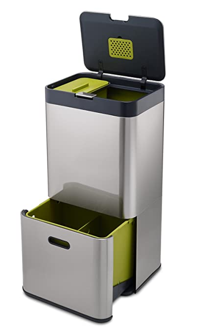 Delicieux Joseph Joseph 30022 Intelligent Waste Totem Kitchen Trash Can And Recycle  Bin Unit With Compost Bin