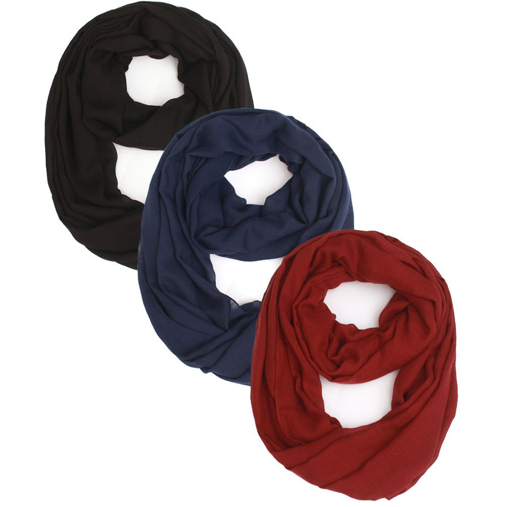 Women Lightweight Infinity Scarf Loop - Plain Soft Light Thin For Spring Summer 2018 New Design Fashion Scarfs Ideal Gift