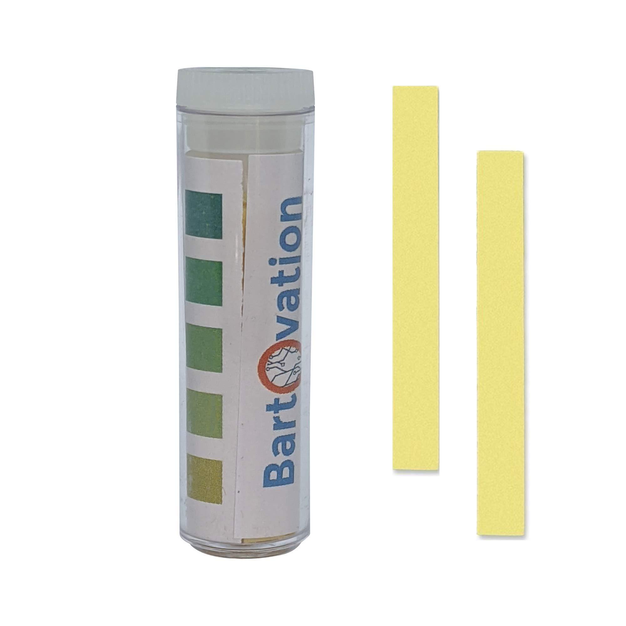 Restaurant Quaternary Ammonium (QAC, Multi Quat) Sanitizer Test Paper, 0-500 ppm [Vial of 100 Paper Strips]