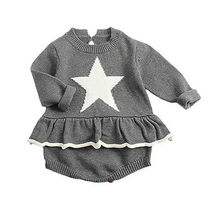 8d18d2a65348b ZooArts ベビー服 ニット ロンパース 女の子 セーター かわいい 愛の心 新生児サイズ 長袖 秋冬 カバーオール ワンピース
