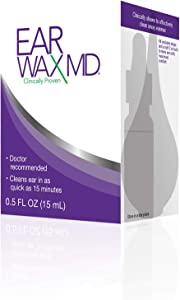 Earwax MD, Ear Wax Removal Kit and Ear Cleaning Tool, Includes Ear Wax Dissolving Drops and Rinsing Bulb