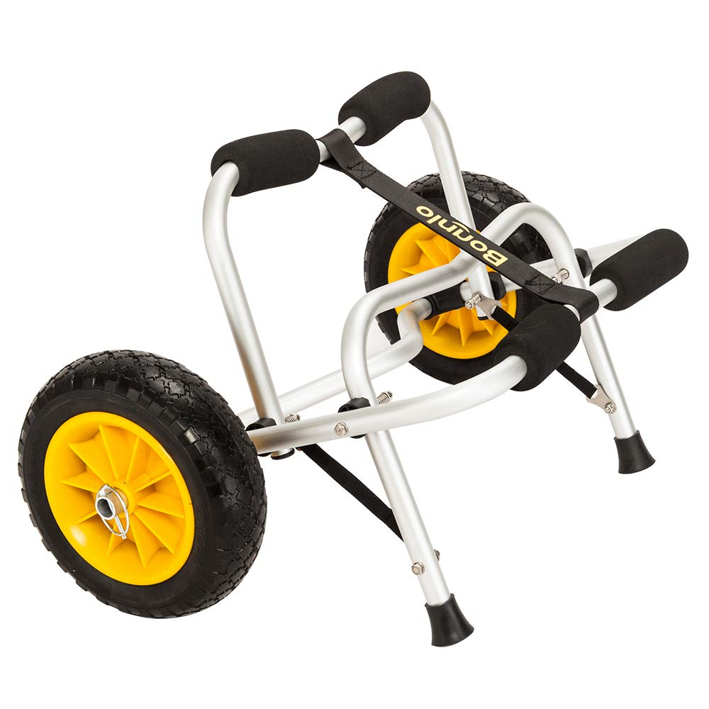 Bonnlo Boat Kayak Canoe Cart Carrier Dolly Trailer Tote Trolley Transport Inflation Free Solid Tires Wheel by Bonnlo