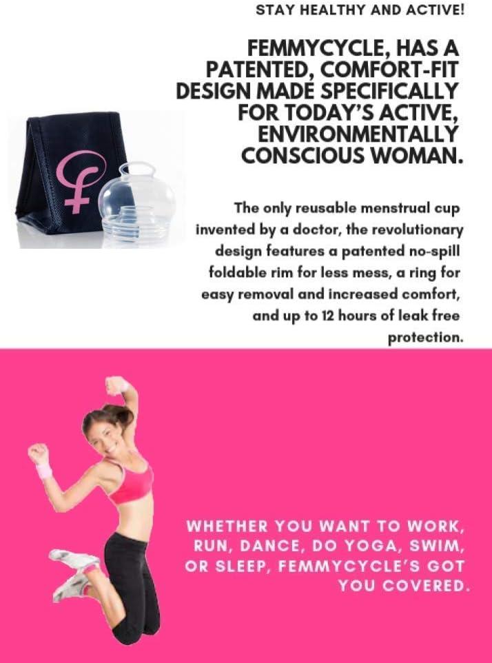 FemmyCycle starter kit - dos copas menstruales Regular & Low Cervix (Grande y Cuello Uterino)