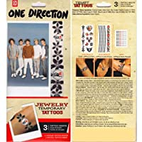 Tempt Tattous One Direction Waterbased Temporary Tattoo, Jewelry 2, 0.6 Ounce