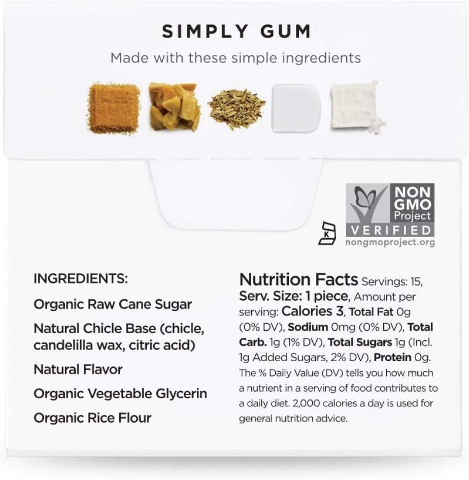 Simply Gum | Chicle de Hinojo | Natural, Vegetariano, y no GMO ...