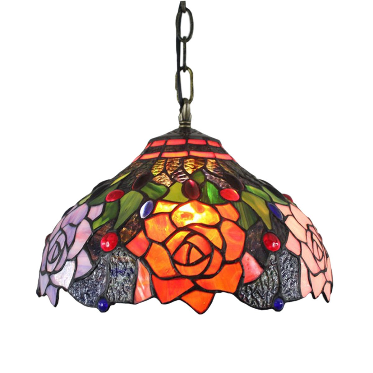 Fumat tiffany led pendant lights for dining room color glass hanging