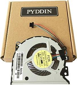 PYDDIN Laptop CPU Cooling Fan Cooler for Hp Pavilion 13-A 13-A100 X360 Envy 15-u 15-u100ng 15-u110dx 15-U111DX Series, 776213-001 779598-001 776215-001 (4 pins)