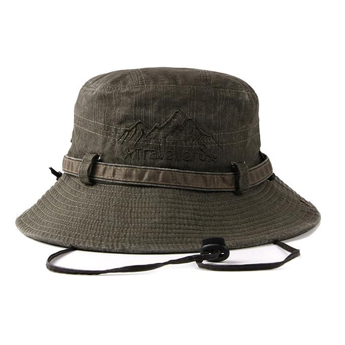 Sombreros de Pescador Explorador Hombres Mujeres Algodón Plegable Al Aire  Libre Excursionismo Primavera Verano Sombrero de Sol Verde  Amazon.es  Ropa  y ... 05b6e4393e2