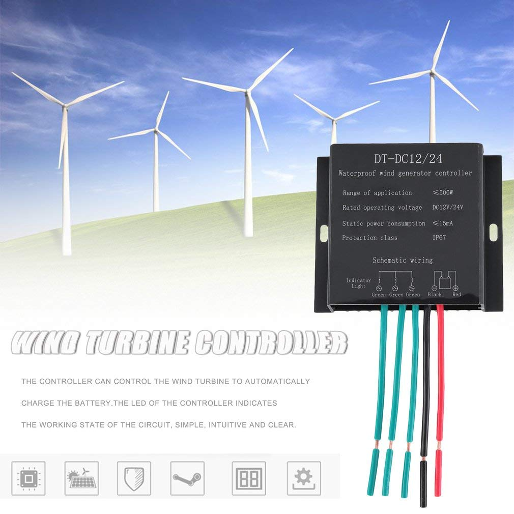 Coldcedar Waterproof Windmill Generator Charge Wiring Diagram Diagrams 3 Phase Wind Turbine Controller Durable Professional 12 24v Rated Operating