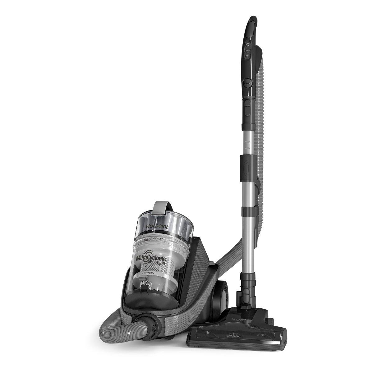 Grey Hotpoint SLM07A4HBUK Multicyclonic Cylinder Vacuum