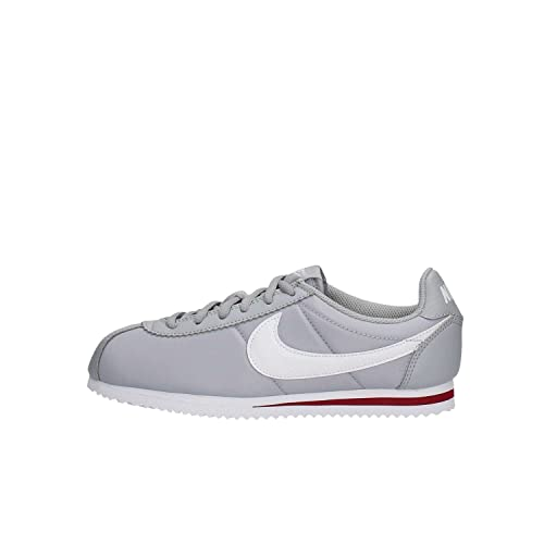 Nike Cortez Nylon (GS), Zapatillas de Running para Niños, Gris (Wolf Grey/White-Team Red), 36 1/2 EU: Amazon.es: Zapatos y complementos