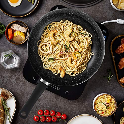 KYTD Professional Nonstick Fry Wok with Lids - Nonstick Skillet, Stir Fry Pans (100% PFOA and APEO Free)