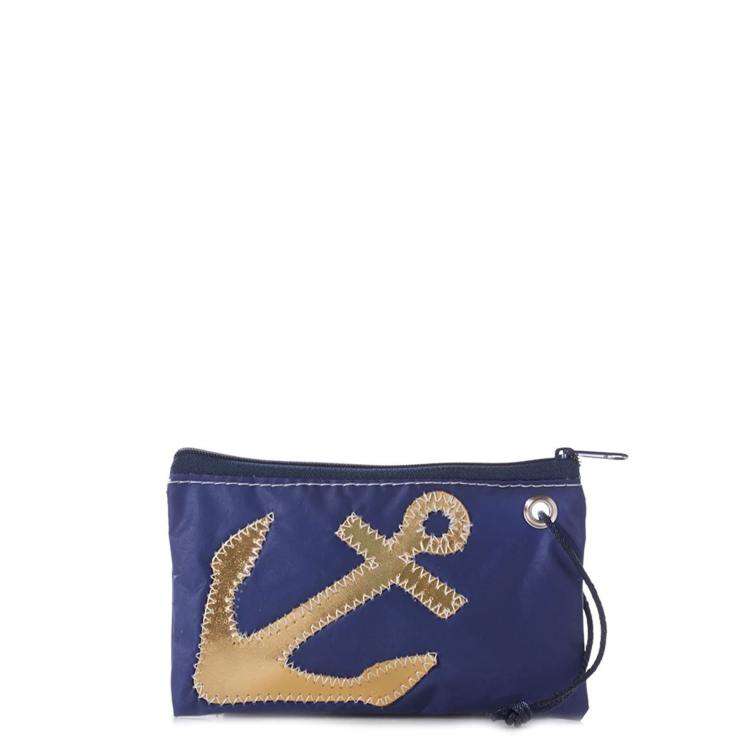 Gold Anchor on Navy Wristlet