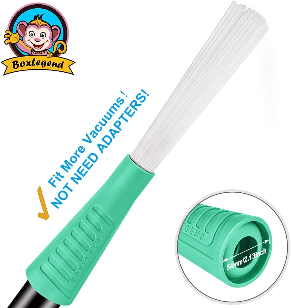 PetOde Universal Vacuum Attachment Dusty Brush Dust Cleaning Sweeper Vacuum Duster Attachment with Universal Adapter Flexible Tiny Tubes Dust Daddy
