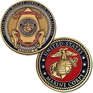 U.S. Marine Corps Base Camp Lejeune Semper Fi Challenge Coin by Armed Forces Depot