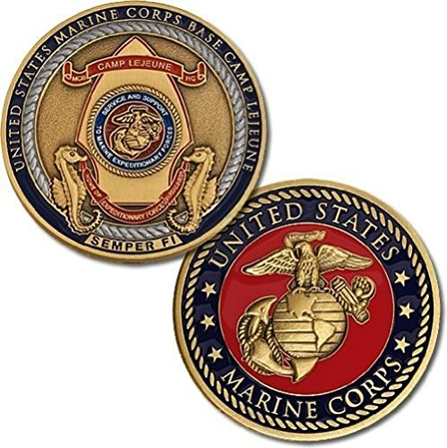 U.S. Marine Corps Base Camp Lejeune Semper Fi Challenge Coin