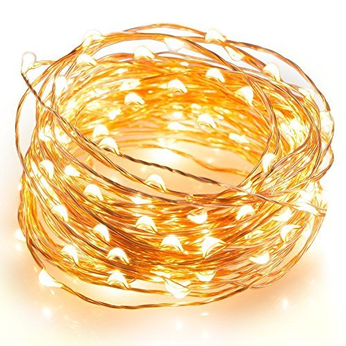 COOWOO String Lights Copper Wire Lights, Waterproof Starry String Lights, Décor Rope Lights for Halloween,Thanksgiving,Christmas,Holiday, Wedding,Parties, Decorative(150 Leds, 50 ft, Warm White)
