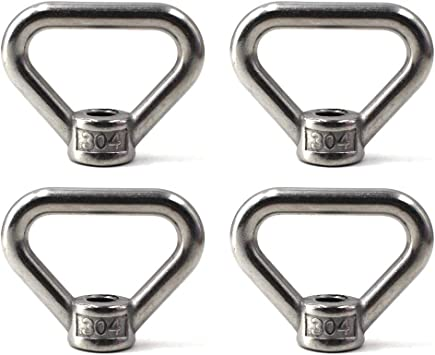 Benliu 304 Stainless Steel Ring Shape M8 Lifting Eye Threaded Nut 2 pcs