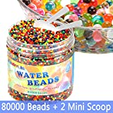 FansArriche Water Beads for kids, 80,000 beads & 2 Counting Scoop Orbeez Beads Water Jelly Beads Gel Water Growing Beads for Orbies Foot Spa Refill,Kids Sensory Toys, Plants Vases