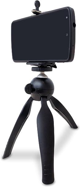 pascaltek portátil Soporte de smartphone teléfono móvil y trípode, compatible con teléfonos con ancho 55 mm –