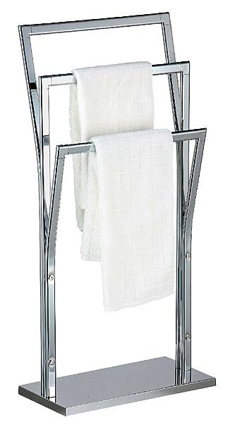 SIDCO ® Handtuchständer Handtuchhalter 3 Stangen Handtuchtrockner  Freistehend Chrom 87cm