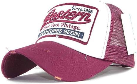 WYLBQM Sombrero Gorra de béisbol de Verano para Hombres Mujeres ...